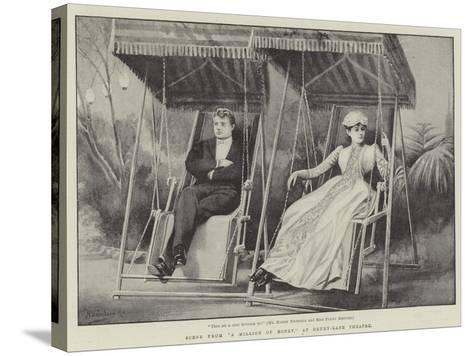 Scene from A Million of Money, at Drury-Lane Theatre-H. Saunders-Stretched Canvas Print