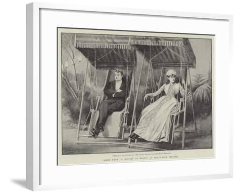 Scene from A Million of Money, at Drury-Lane Theatre-H. Saunders-Framed Art Print