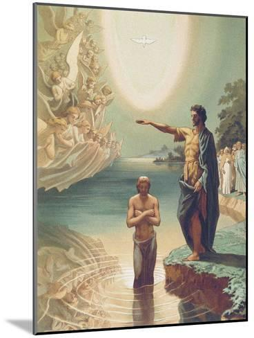 The Baptism of Christ, C.1860-Grigori Grigorevich Gagarin-Mounted Giclee Print