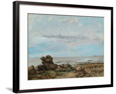 The Beach at Trouville, 1865-Gustave Courbet-Framed Art Print