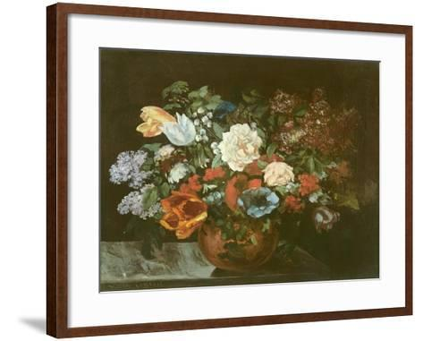 Bouquet of Flowers, 1863-Gustave Courbet-Framed Art Print