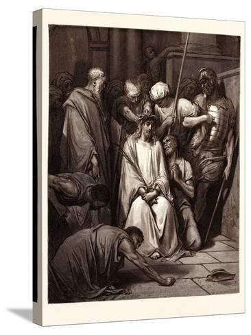 The Crown of Thorns-Gustave Dore-Stretched Canvas Print