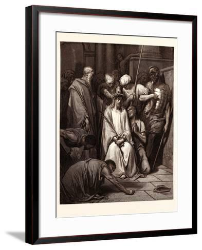 The Crown of Thorns-Gustave Dore-Framed Art Print
