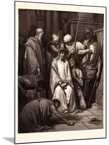 The Crown of Thorns-Gustave Dore-Mounted Giclee Print