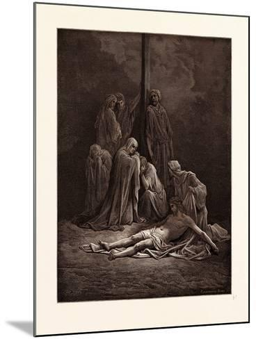 The Dead Christ-Gustave Dore-Mounted Giclee Print