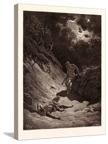 The Death of Abel-Gustave Dore-Stretched Canvas Print