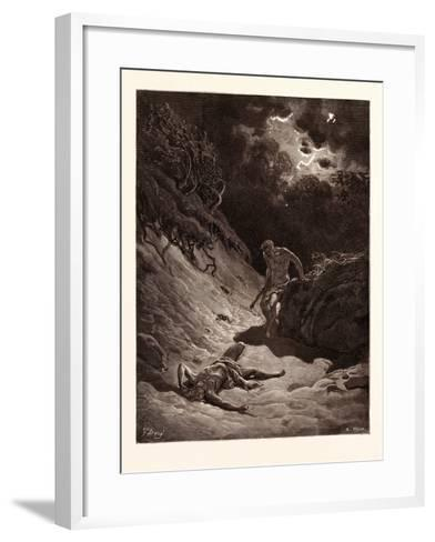The Death of Abel-Gustave Dore-Framed Art Print