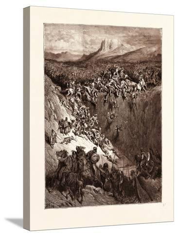 Samson Destroying the Philistines with the Jawbone of an Ass-Gustave Dore-Stretched Canvas Print