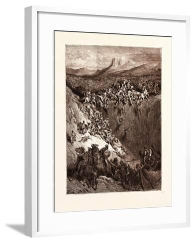 Samson Destroying the Philistines with the Jawbone of an Ass-Gustave Dore-Framed Art Print