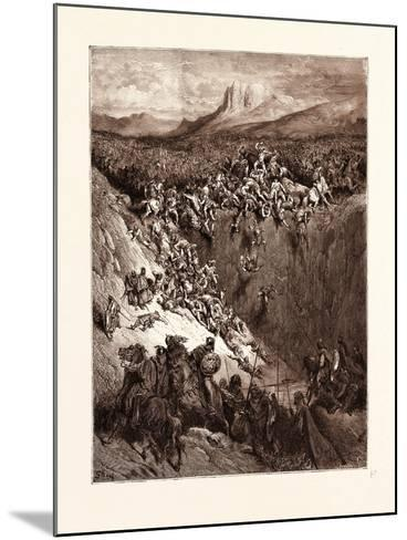 Samson Destroying the Philistines with the Jawbone of an Ass-Gustave Dore-Mounted Giclee Print