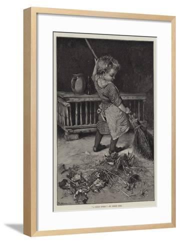 A Clean Sweep-Hablot Knight Browne-Framed Art Print