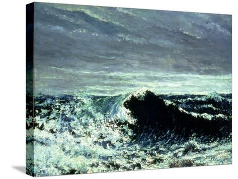 The Wave, C.1869-Gustave Courbet-Stretched Canvas Print