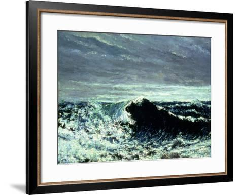 The Wave, C.1869-Gustave Courbet-Framed Art Print