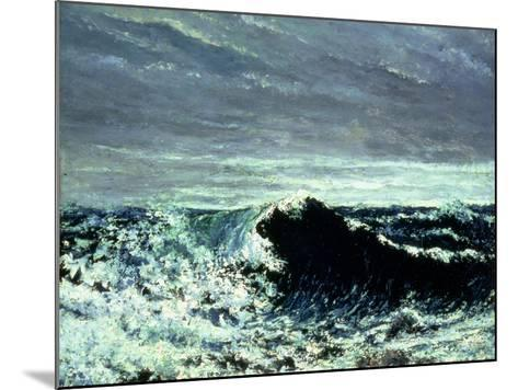The Wave, C.1869-Gustave Courbet-Mounted Giclee Print