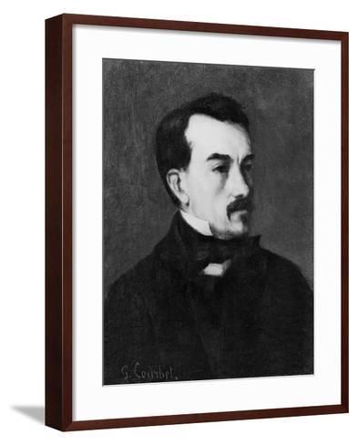Portrait of a Man-Gustave Courbet-Framed Art Print