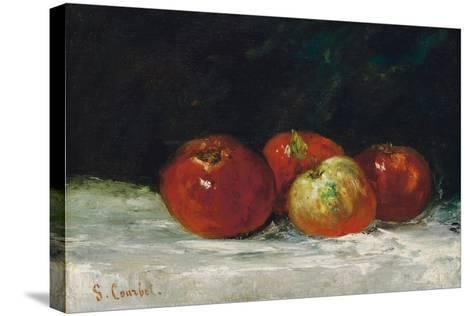 Red Apples, 1872-Gustave Courbet-Stretched Canvas Print