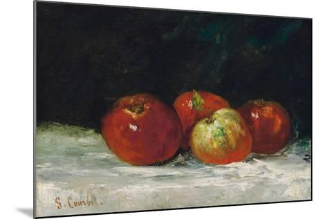 Red Apples, 1872-Gustave Courbet-Mounted Giclee Print