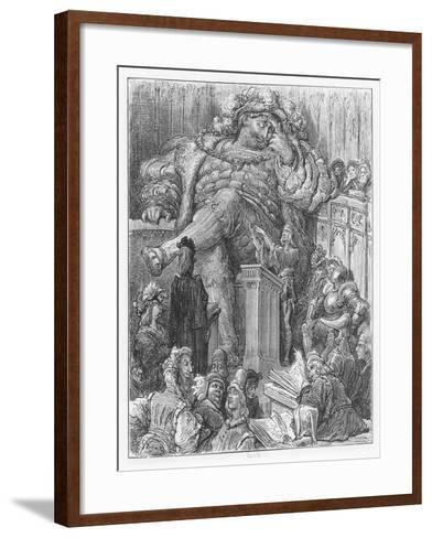 Illustration from 'Gargantua and Pantagruel'-Gustave Dore-Framed Art Print