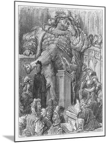 Illustration from 'Gargantua and Pantagruel'-Gustave Dore-Mounted Giclee Print