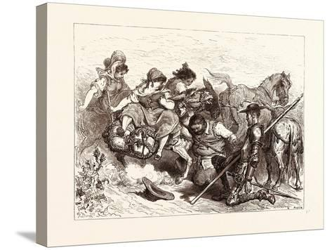 The Don Deceived-Gustave Dore-Stretched Canvas Print