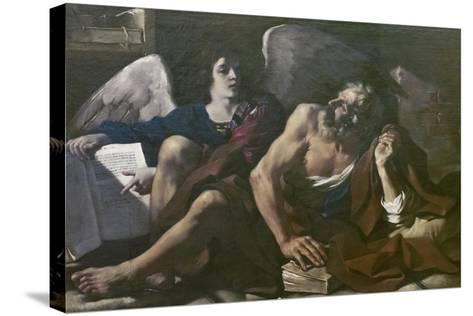 St Matthew and the Angel, 1621-23-Guercino-Stretched Canvas Print