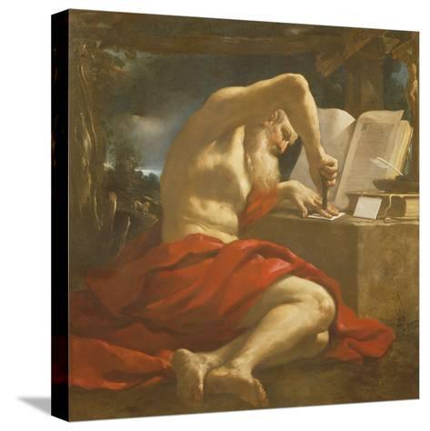 St. Jerome Sealing a Letter-Guercino-Stretched Canvas Print