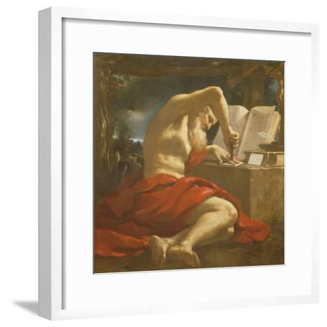 St. Jerome Sealing a Letter-Guercino-Framed Art Print