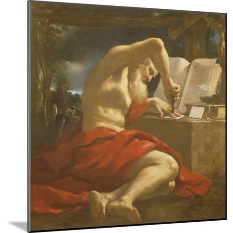 St. Jerome Sealing a Letter-Guercino-Mounted Giclee Print
