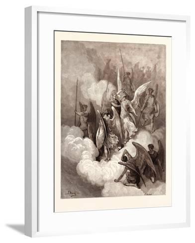 Abdiel and Satan-Gustave Dore-Framed Art Print
