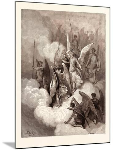 Abdiel and Satan-Gustave Dore-Mounted Giclee Print