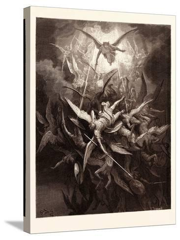 The Fall of the Rebel Angels-Gustave Dore-Stretched Canvas Print