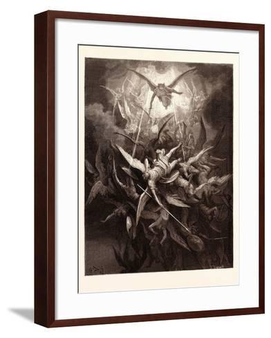 The Fall of the Rebel Angels-Gustave Dore-Framed Art Print