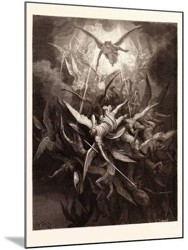 The Fall of the Rebel Angels-Gustave Dore-Mounted Giclee Print
