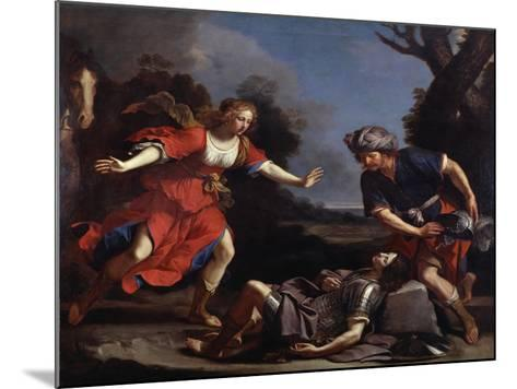 Erminia Finding the Wounded Tancredi-Guercino-Mounted Giclee Print