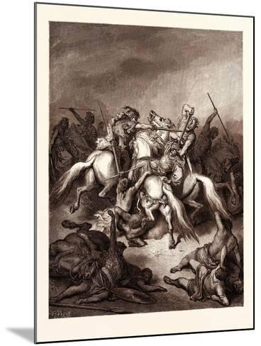 Abishai Saving the Life of David-Gustave Dore-Mounted Giclee Print