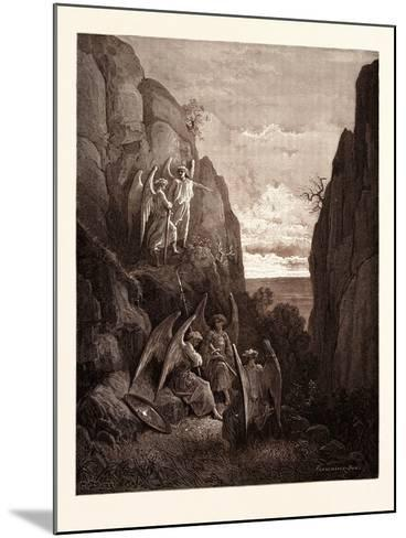 Ariel's Charge to Gabriel-Gustave Dore-Mounted Giclee Print