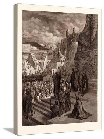 Artaxerxes Granting Liberty to the Jews-Gustave Dore-Stretched Canvas Print