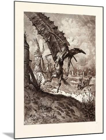 The Adventure with the Windmills-Gustave Dore-Mounted Giclee Print