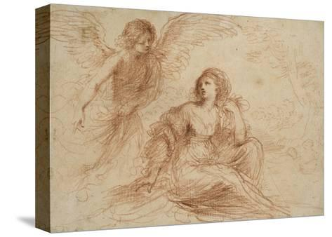 An Angel Appearing to Hagar and Ishmael, C.1653-Guercino-Stretched Canvas Print
