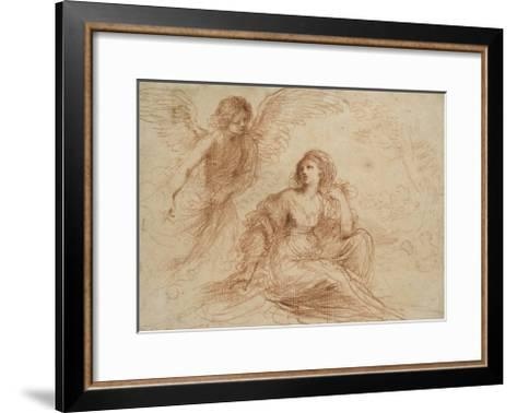 An Angel Appearing to Hagar and Ishmael, C.1653-Guercino-Framed Art Print