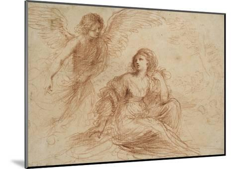 An Angel Appearing to Hagar and Ishmael, C.1653-Guercino-Mounted Giclee Print