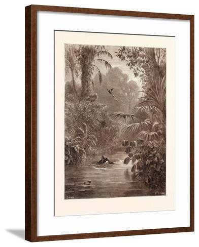 Atala and Chactas Crossing a River-Gustave Dore-Framed Art Print