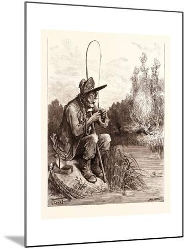 The Little Fish and the Fisherman-Gustave Dore-Mounted Giclee Print