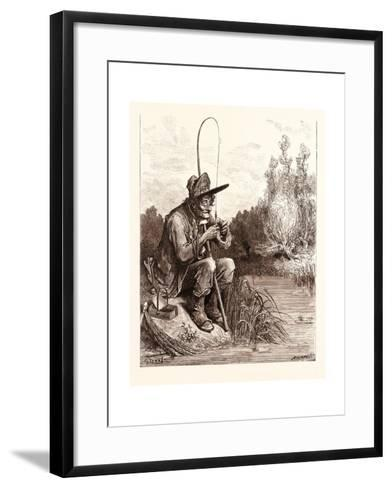 The Little Fish and the Fisherman-Gustave Dore-Framed Art Print
