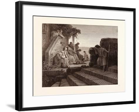 The Return of the Prodigal Son-Gustave Dore-Framed Art Print