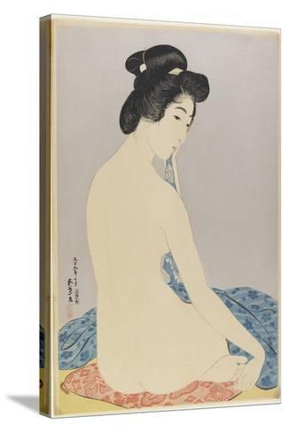 Woman after Bath, July 1920-Goyo Hashiguchi-Stretched Canvas Print