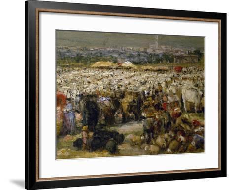 Fair at Monteluce, 1880-Guglielmo Mangiarelli-Framed Art Print
