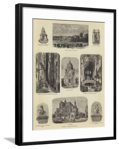 Paris Illustrated-Guido Bach-Framed Art Print