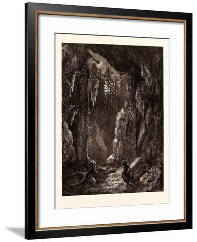 Chactas Seeking for the Graves of Father Aubry and Atala-Gustave Dore-Framed Art Print