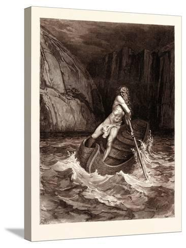 Charon-Gustave Dore-Stretched Canvas Print